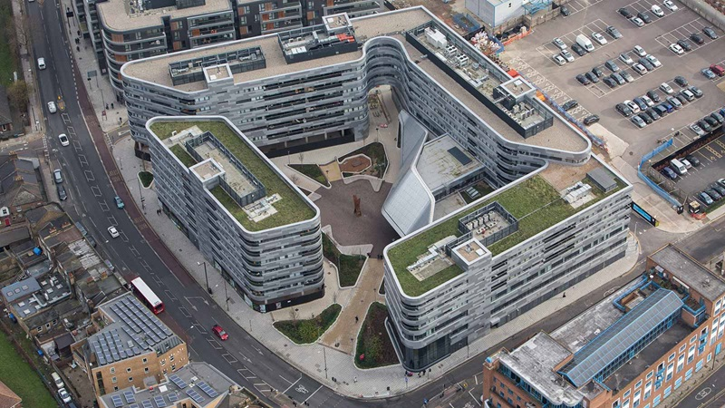 Aerial View of Greenwich Square Building - Mace Group