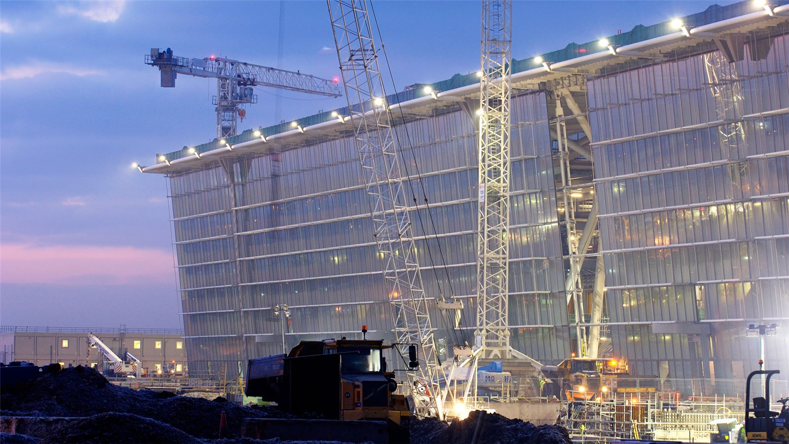 Construction View of London's Heathrow Terminal 5 - Mace Group