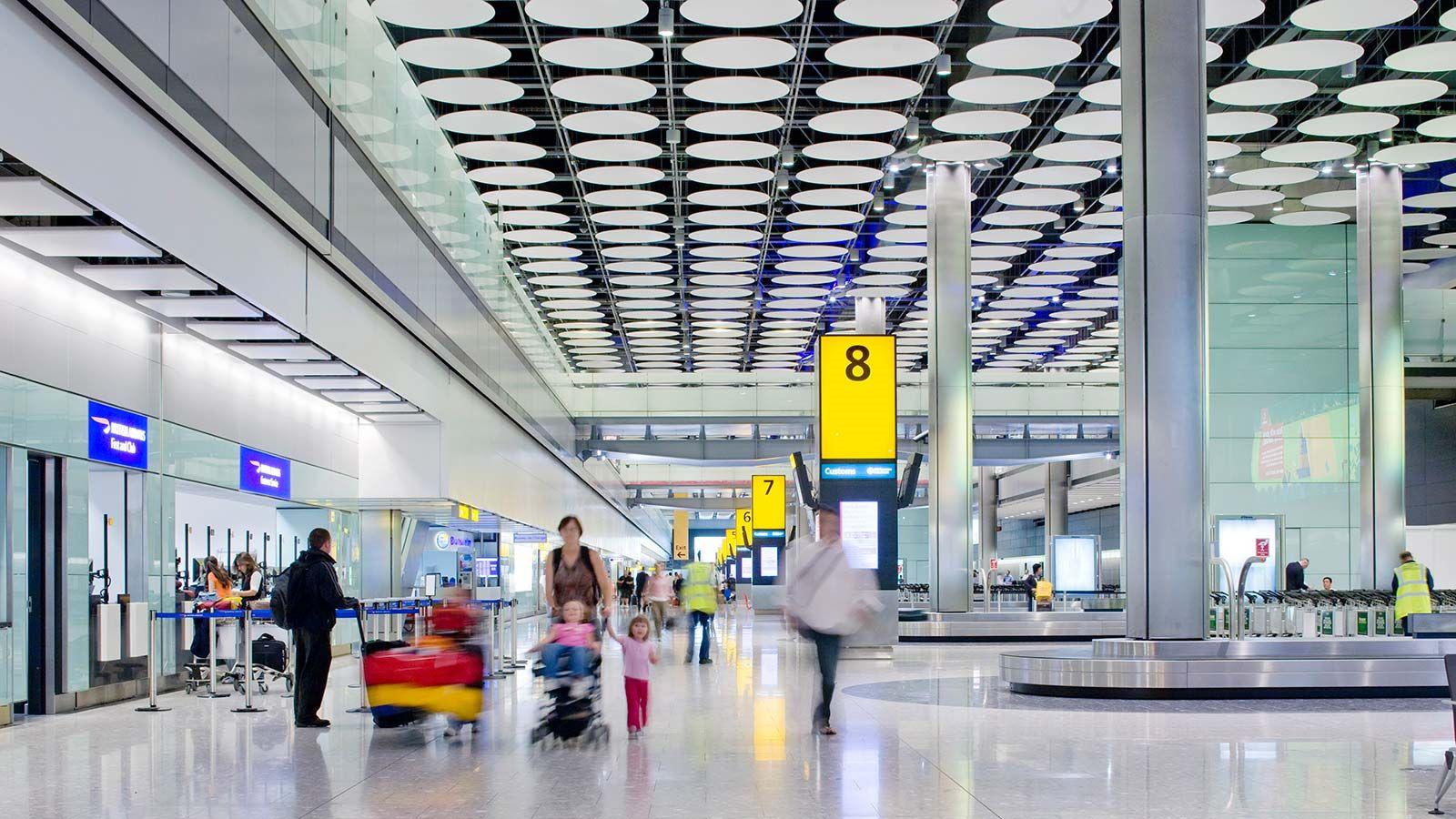 Passengers Inside Heathrow T5 - Mace Group