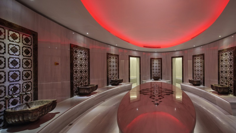 Inside Hilton Hotel's Modern Bathroom - Mace Group