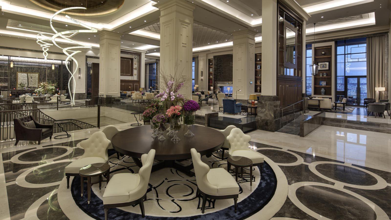 Inside Hilton's Hotel Reception Lobby Area - Mace Group