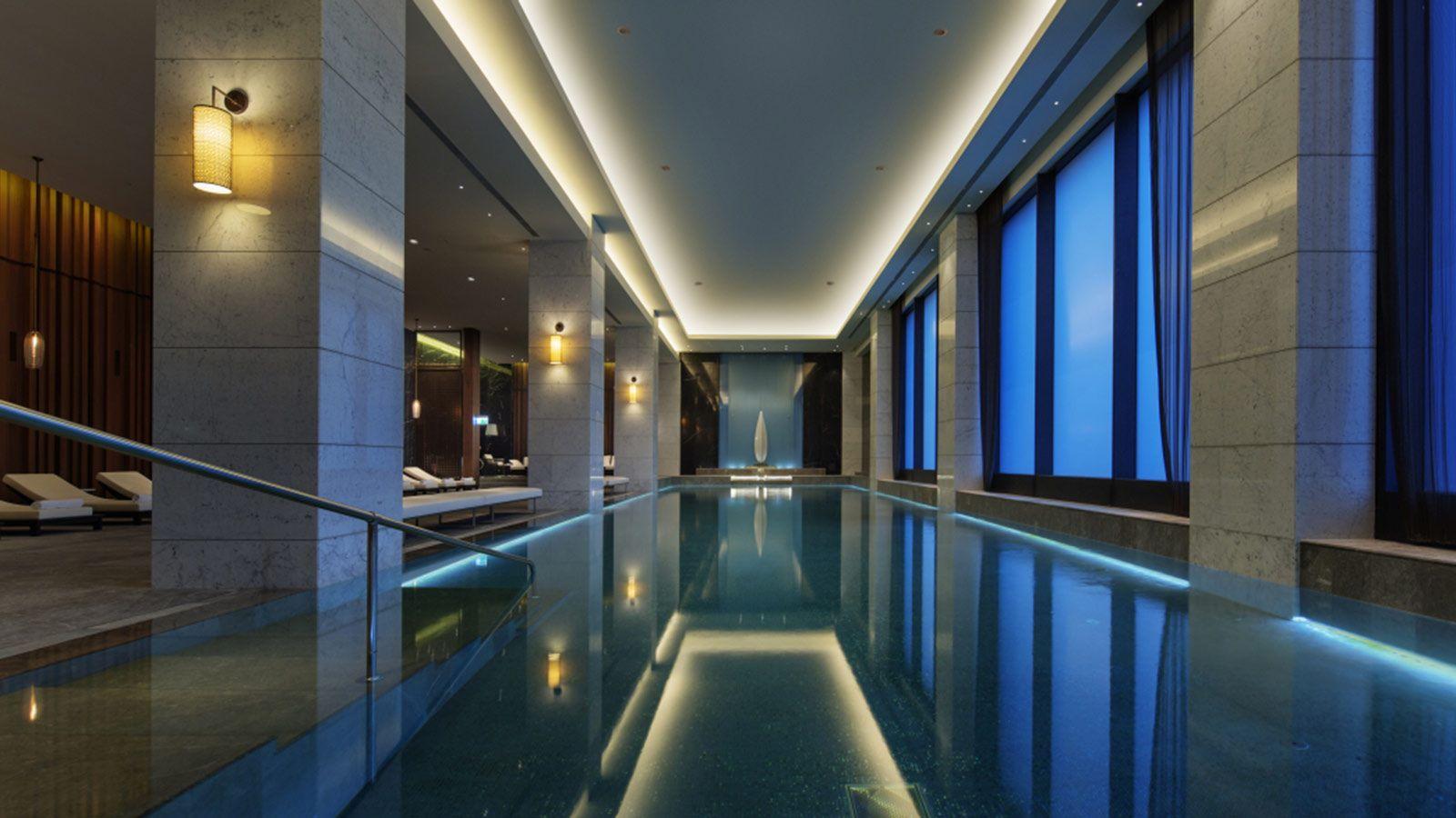 Luxury Modern Indoor Swimming Pool, Hilton Hotel - Mace Group