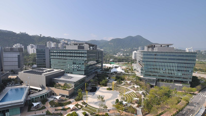 Aerial View of Hong Kong Science Park - Mace Group