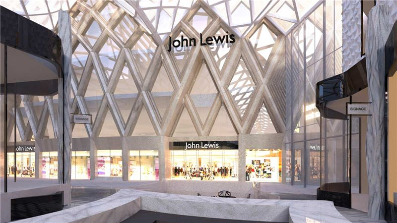 John Lewis Shop Front, Leeds Shopping Centre - Mace Group