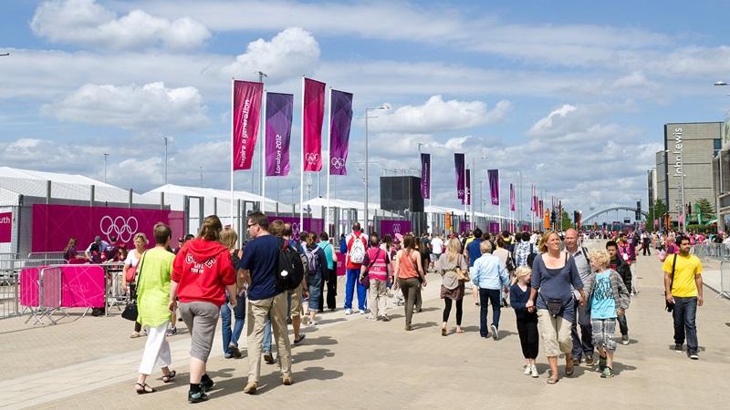 People Walking in Public, London 2012 Olympics - Mace Group