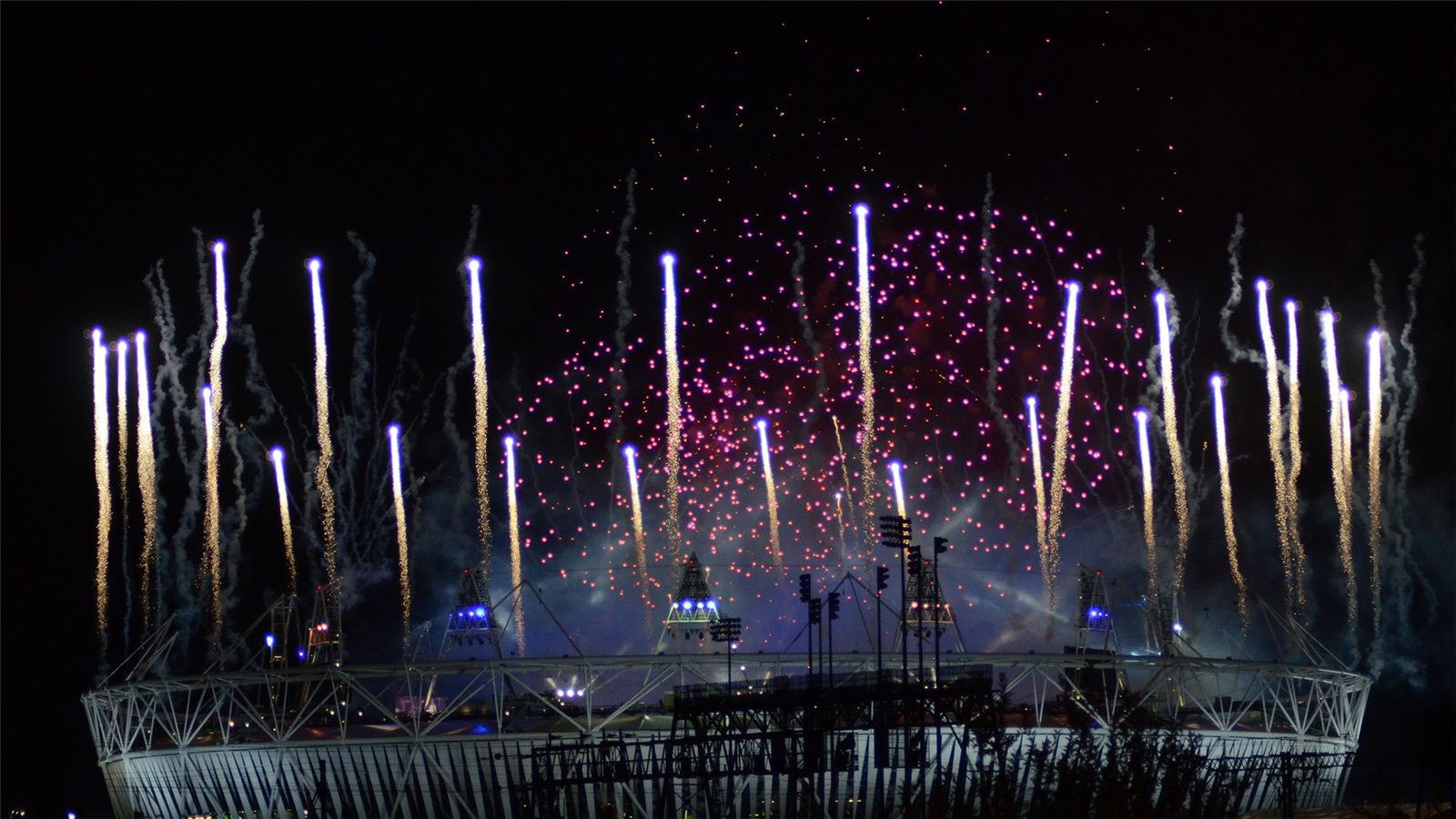 View of the Fireworks at the London 2012 Olympics - Mace Group