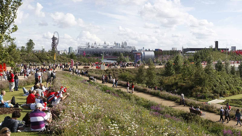 People Sitting at the Queen Elizabeth Olympic Park - Mace Group