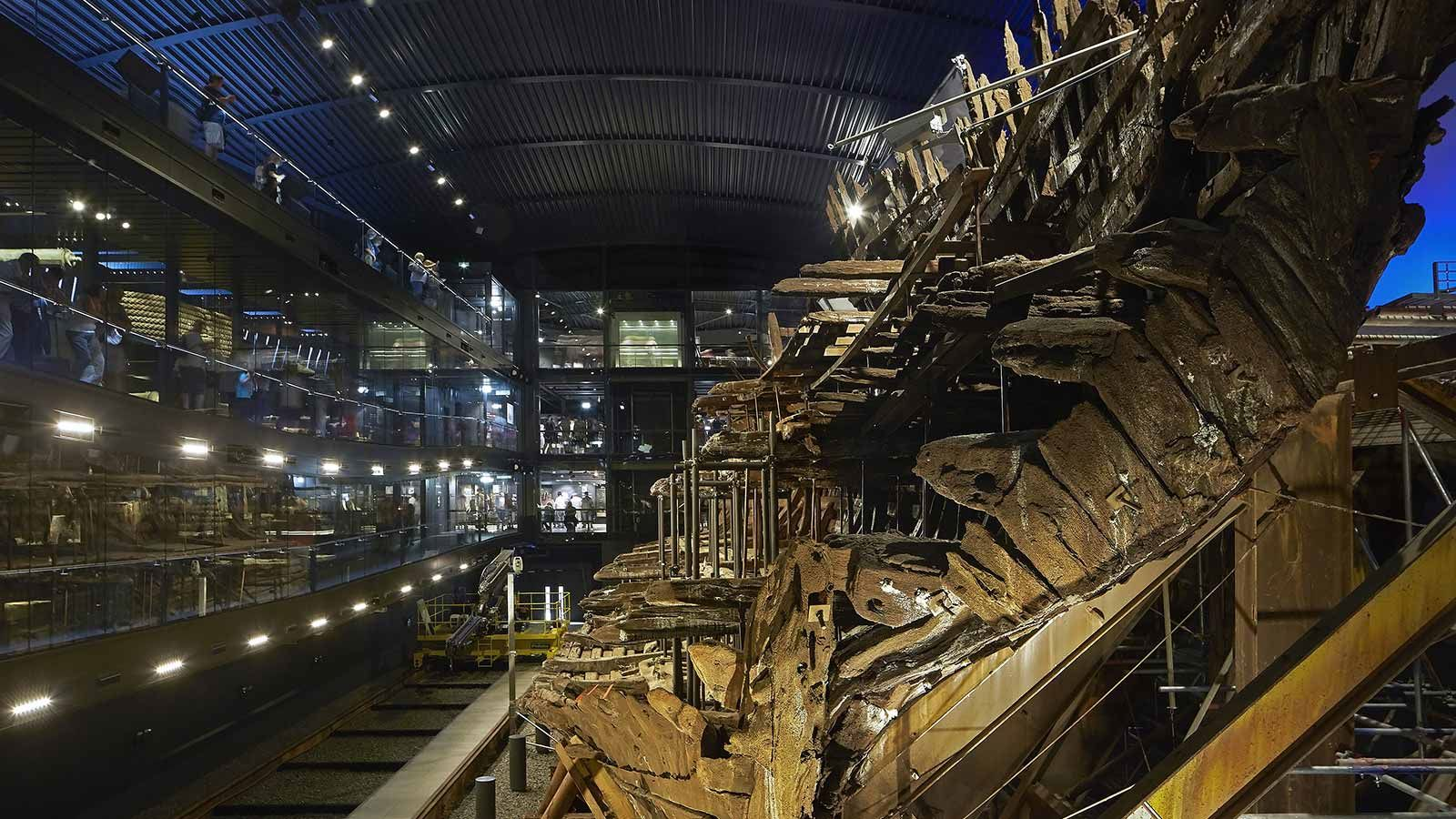 Inside Mary Rose Museum - Mace Group