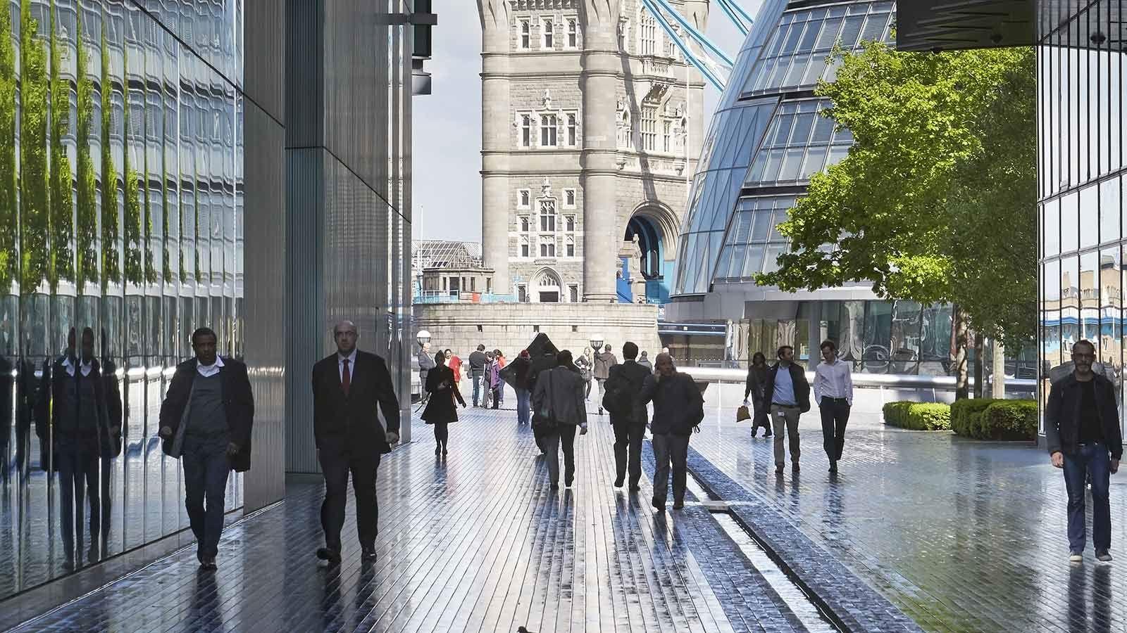 London People Walking to Tower Bridge - Mace Group