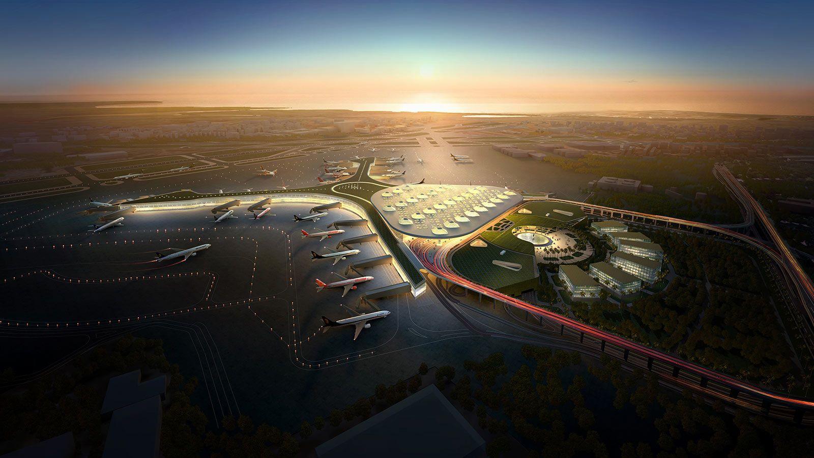 Aerial View of Mumbai Airport - Mace Group
