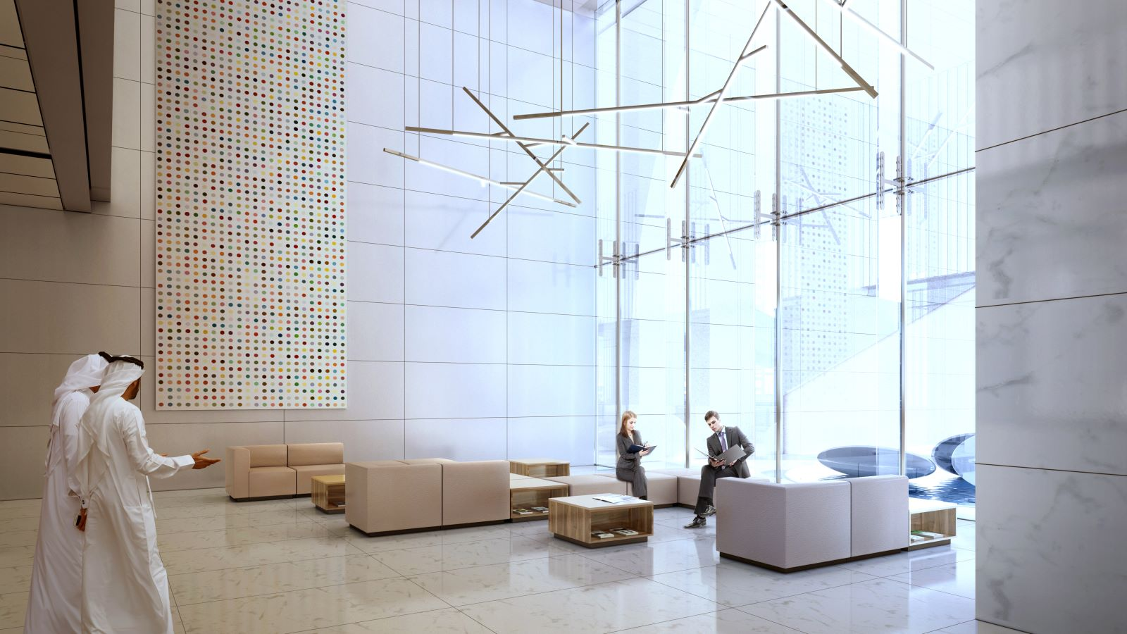 Reception Lobby Area of One Zaabeel Building - Mace Group