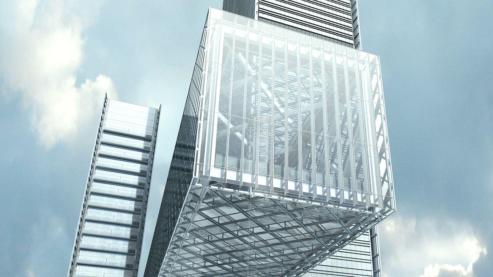 CGI View of One Za'abeel Linked Towers - Mace Group