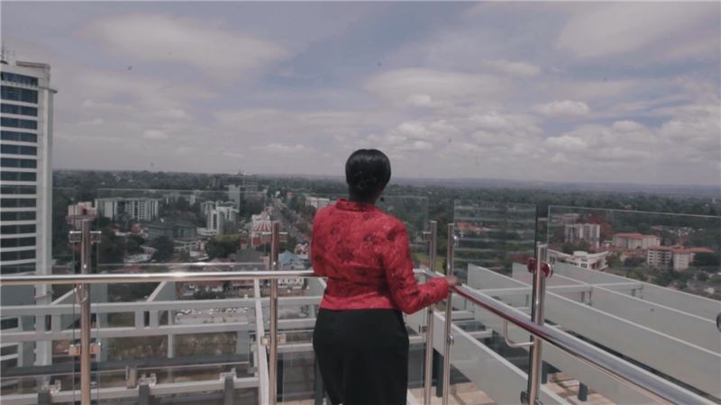 Video still - looking out over the city from Sanlam Tower viewing deck - Mace Group