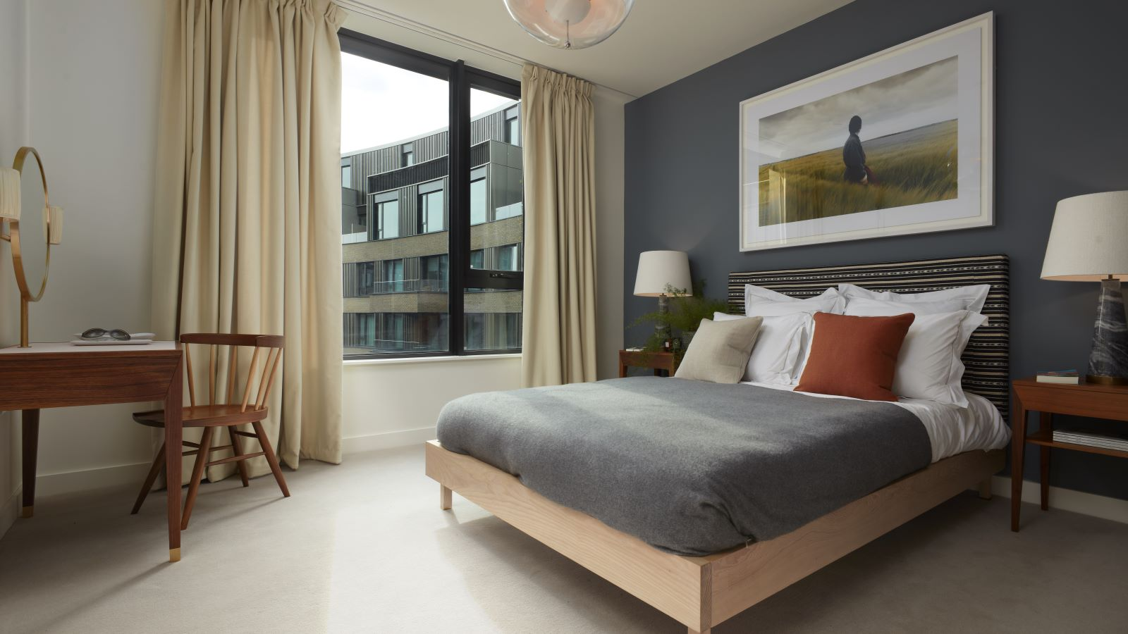 Television Centre Accommodation Modern Bedroom - Mace Group