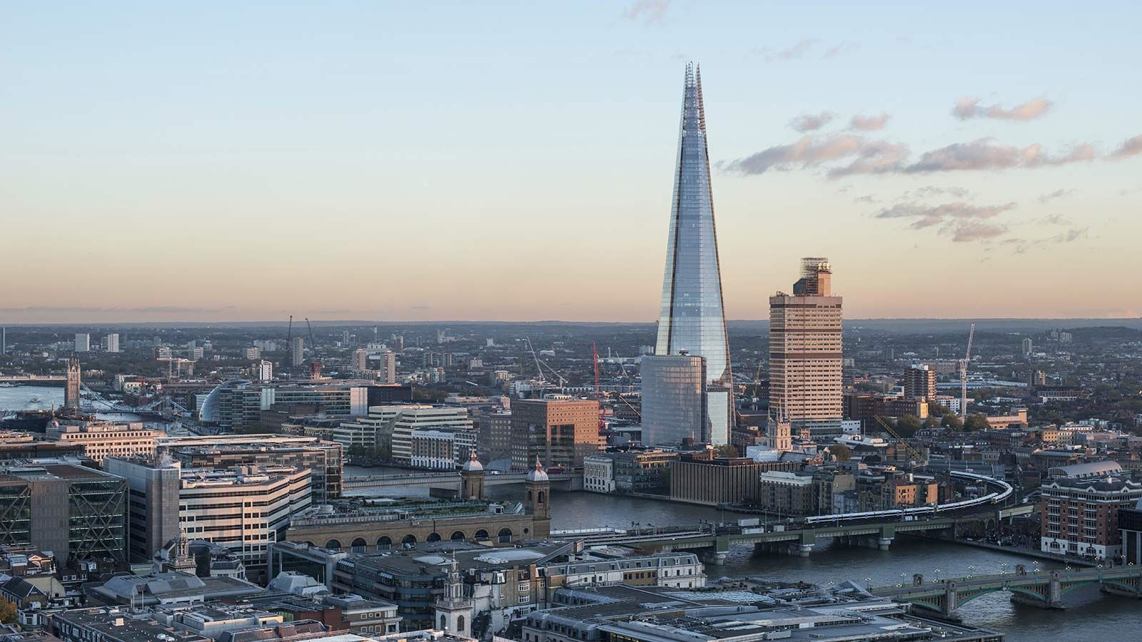 Aerial View of London, The Shard - Mace Group