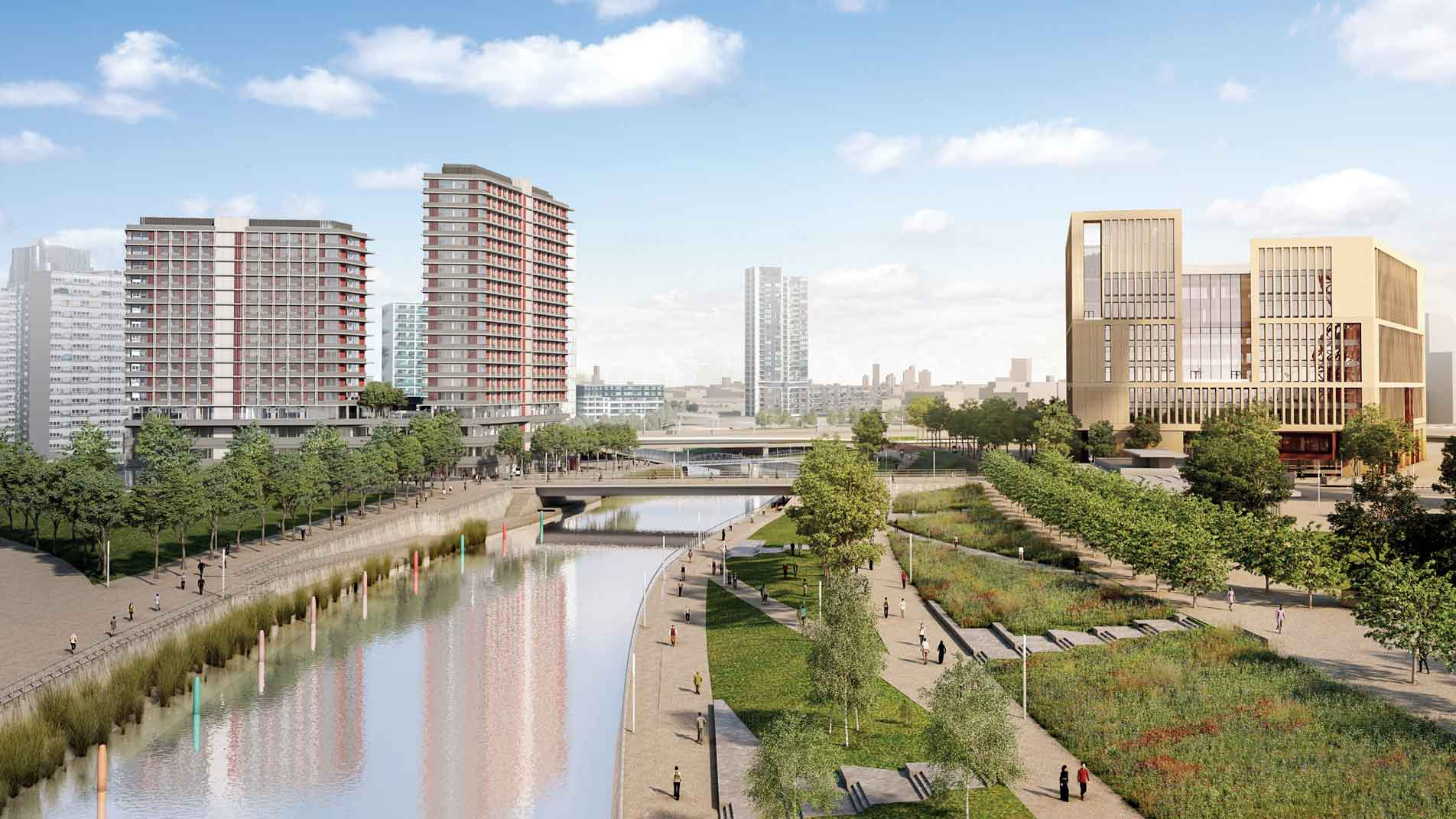 CGI of UCL East within the Queen Elizabeth Olympic Park