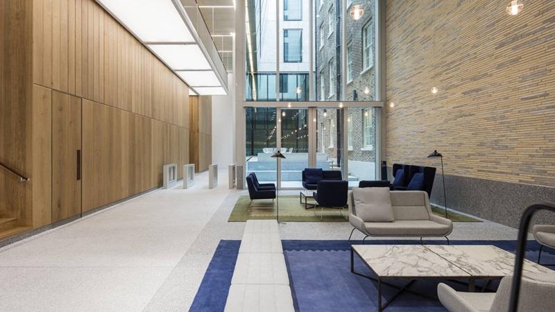 Reception Lobby Area Inside W5 – New Burlington Place Building - Mace Group