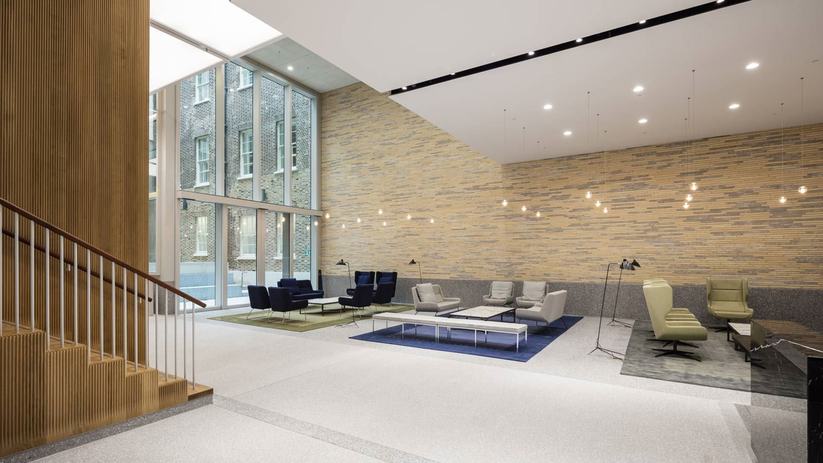 Luxury Modern Office Reception, W5 – New Burlington Place Building - Mace Group