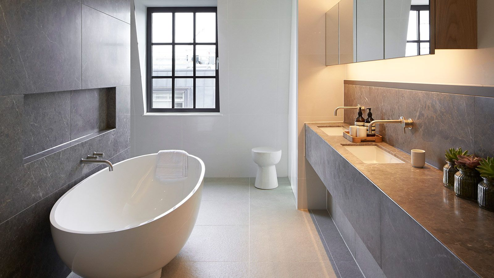 Ultra Lux Modern Marble Bathroom - Mace Group