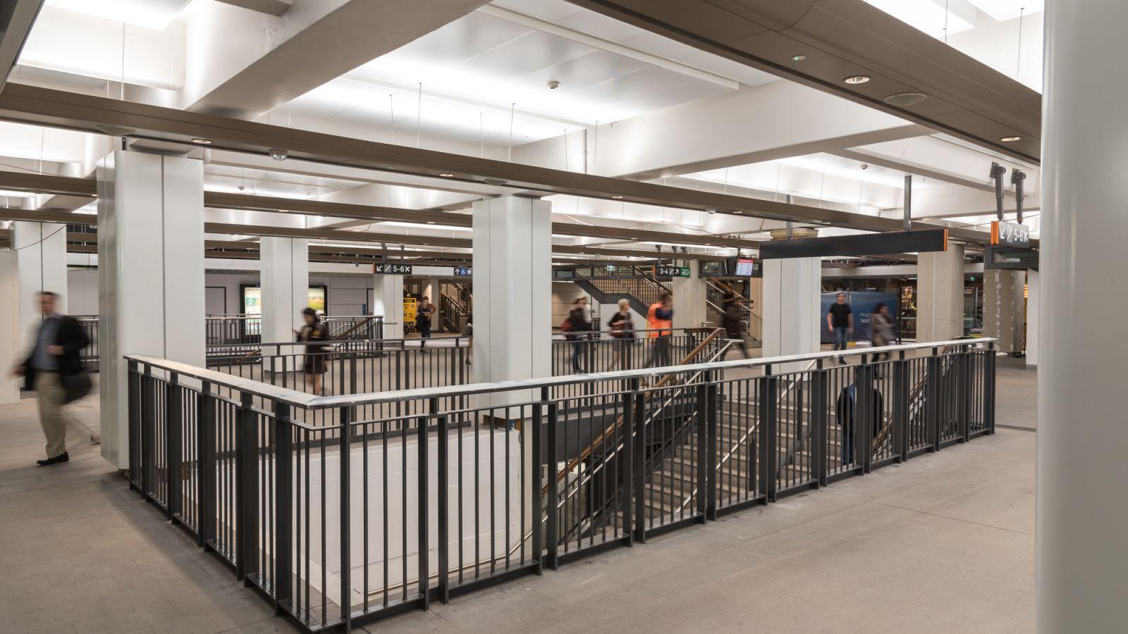 Inside Wynyard Train Station - Mace Group
