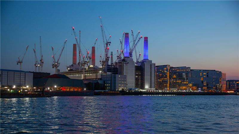 Cranes at London Battersea Power Station - Mace Group