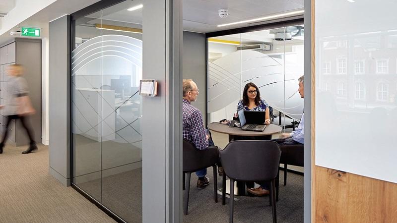 Team Meeting in a Meeting Room - Mace Group