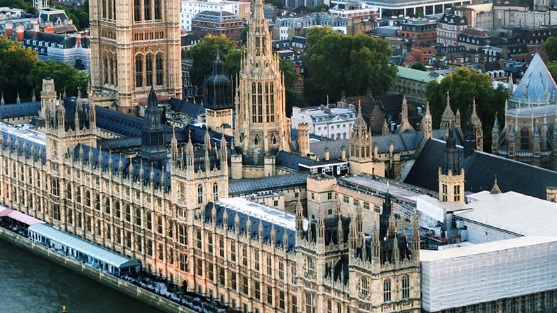Aerial View of Palace of Westminster - Mace Group