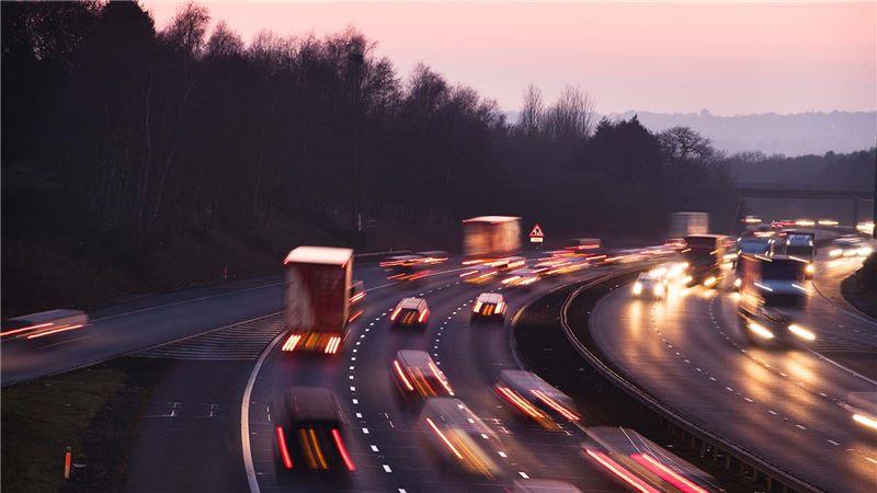 Night View of UK Motorway Highways - Mace Group